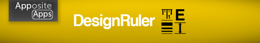 DesignRuler - Graphic Design Ruler App for the Apple iPhone, iPod Touch & iPad iOS